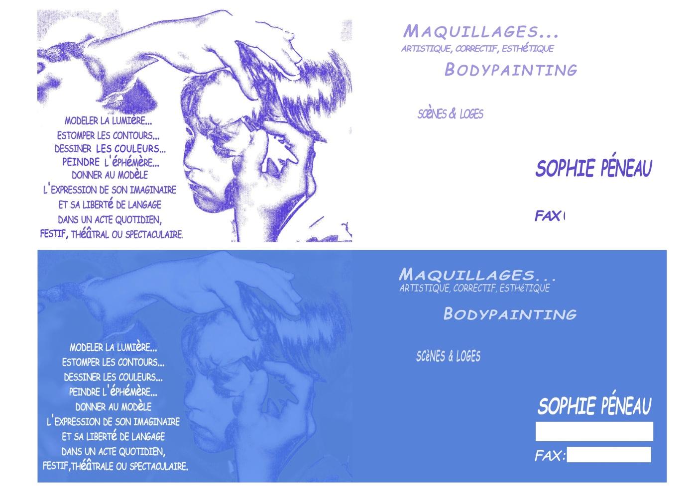 Carte De Visite MDame Sonia