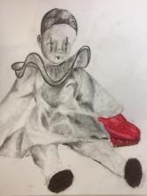 pastels gras et Graphites / Pierrot et escarpin